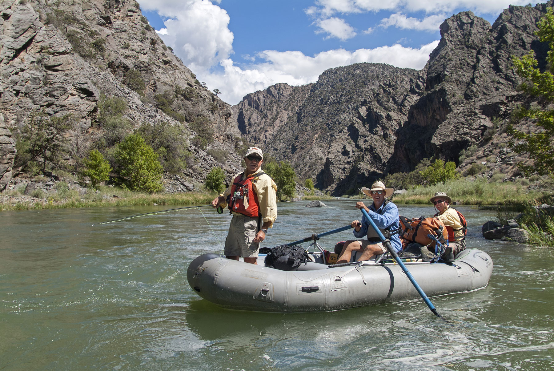 gunnison river expeditions whitewater rafting fly