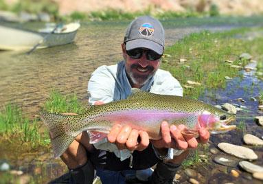 Fishing the San Miguel River, Colorado