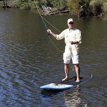 flyfishing paddleboard
