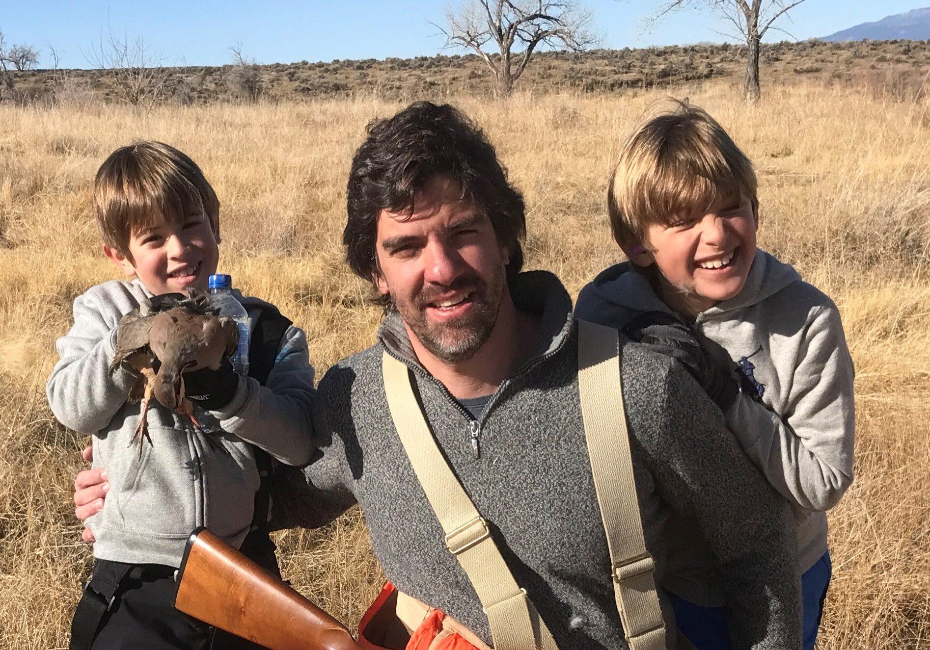 hot guy with boys hunting birds